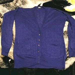 J. Crew Linen Cable Knit Cardigan Sweater
